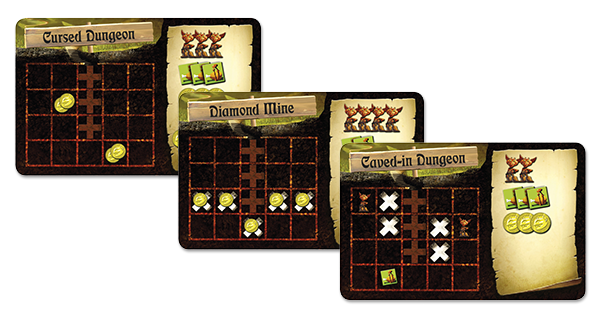 dungeon lords setup tiles